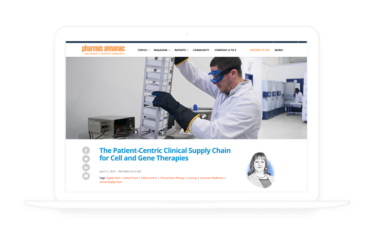 The Patient-Centric Clinical Supply Chain for Cell and Gene Therapies